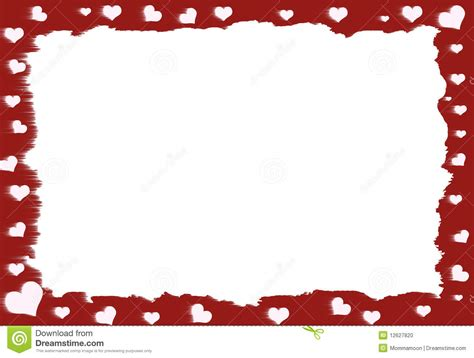 red heart border stock photo image