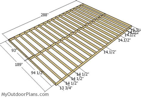 how to frame a floor 16x24 shed plans myoutdoorplans free woodworking plans
