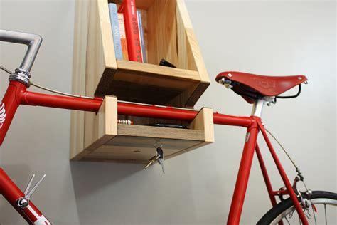 wood bike rack a multifunctional blue stained wooden bike rack cool