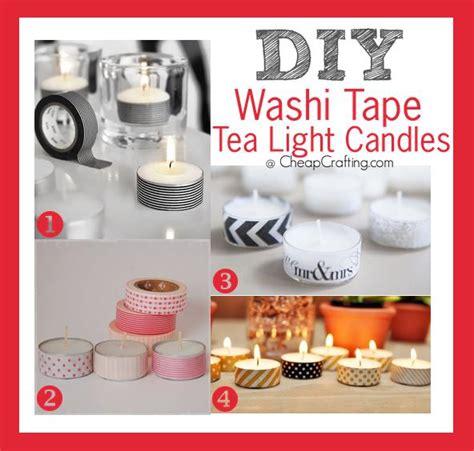 washi tapdiy washi tape tea light candlese tealights