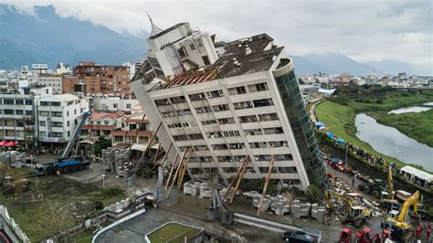 People Trapped As Buildings Cave In After Taiwan