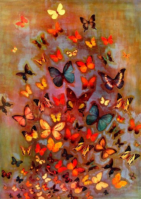 lily greenwood signed giclee print heather butterflies