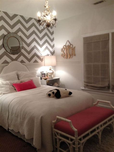 white paint for small bedroom ideas with zigzag wallpaper and stylish bench nytexas