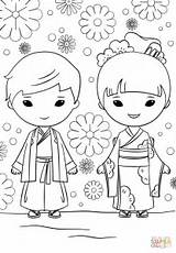 Coloring Japanese Pages Boy Printable Kokeshi Dolls Japan Print Drawing Children Impressive Doll Getcolorings sketch template