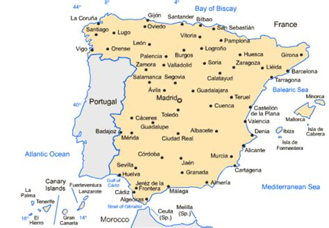 Carte D Espagne Avec Villes by Andalusia And Other Cities 183 Part 2 La Wedding