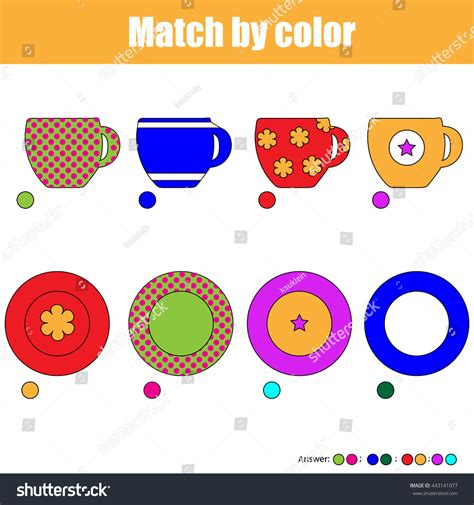 Matching Game Kids Find Right Pair Stock Vector 443141977 Shutterstock