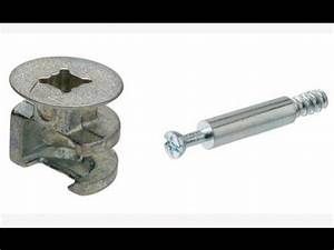 Furniture Cam Lock and Nut - YouTube