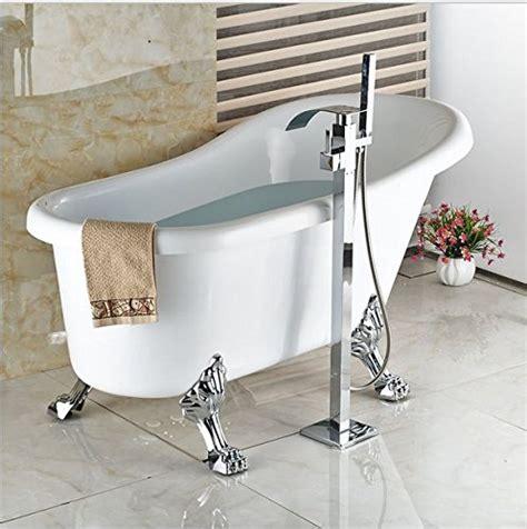 badewanne armatur freistehend gowe boden montiert wasserfall badewanne wasserhahn mit handbrause badewanne armatur freistehend