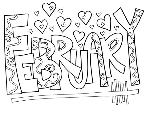 february coloring pages  coloring pages  kids