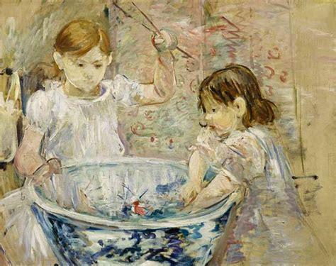 enfants jouant avec la bassine tableau de berthe morisot