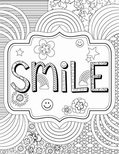 Coloring Adult Printable Dental Smile Calming Heart