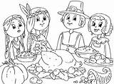 Coloring Pages Thanksgiving Preschool Feast Worksheets Crafts Toddler Kindergarten sketch template