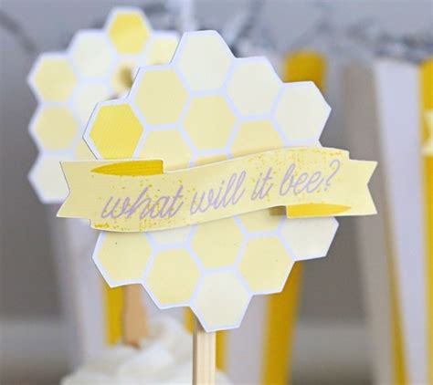 paper craft beehive cupcake toppers byers