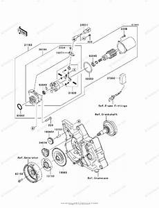 Kawasaki Motorcycle 2010 Oem Parts Diagram For Starter