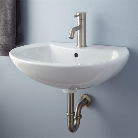 Maisie Porcelain Wall Mount Bathroom Sink Wall Mount