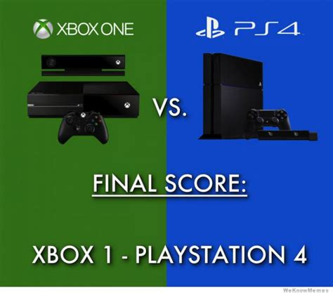 Ps4 Meme - memes xbox one vs ps4 image memes at relatably com