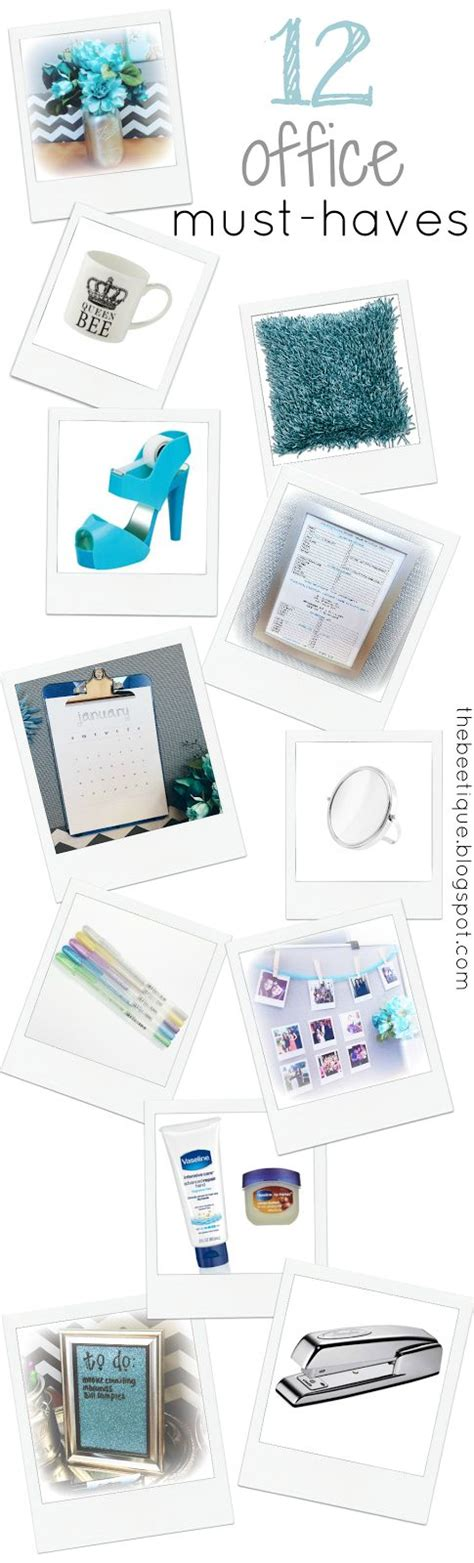 12 office must haves cubicle decor desk glam via