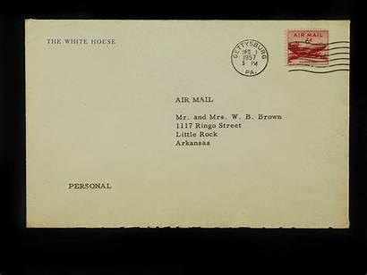 Rock Nine Envelope Eisenhower Member Letter Mrs