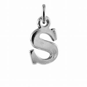 sterling silver alphabet letter s charm thecharmworkscom With letter s charm