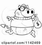 Clipart Bank Burglar Robbing Devil Royalty Rf Illustrations Vector Robbery sketch template