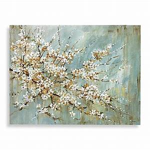 blossom canvas wall art bed bath beyond With best brand of paint for kitchen cabinets with cherry blossom canvas wall art
