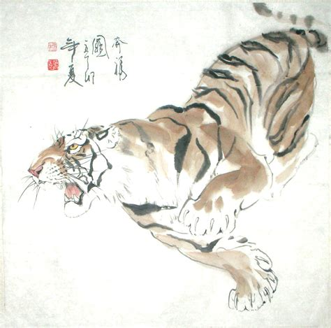 chinese painting tiger chinese painting cnag