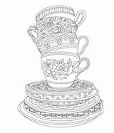 Coloring Tea Adult Elegant Issuu Coffee Sheets Adults Colouring Printable Cup Birthday Målarbilder Cups Artikkeli sketch template