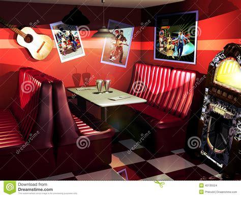 cuisine 馥s 50 fifties restaurant stock illustration image 40135524