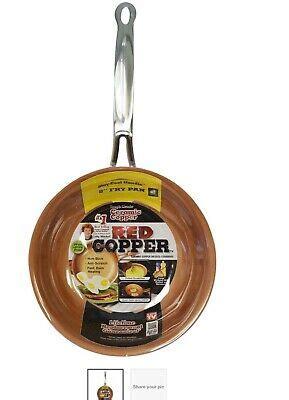 telebrands red copper   frying pan    tv ultra tough ceramic ebay