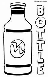Bottle Coloring Pages Colorings Print sketch template