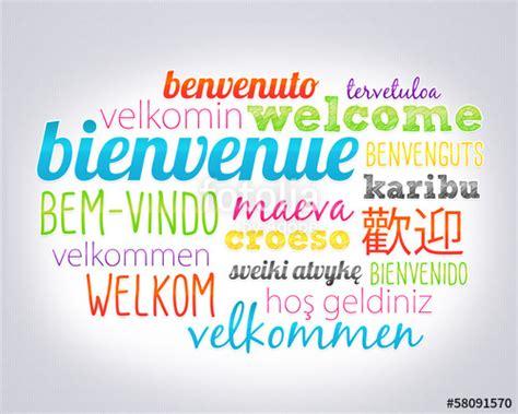 bienvenue dans le monde de quot bienvenue dans toutes les langues quot photo libre de droits