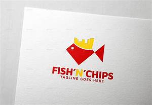 Fish'n'Chips Logo Template by thelionstudios | GraphicRiver