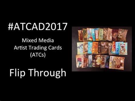 flip  mixed media artist trading cards