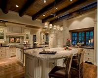 lovely larget kitchen plan White Kitchen Cabinets With Stained Trim Ideas