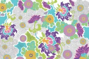 textil design stylized floral textile design detail jacqueline unanue