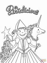 Pinkalicious Coloring Pages Fancy Nancy Printable Party Birthday Printables Crafts Pink Print Sheets Purplicious Supercoloring Paper Unicorn Drawing Templates Cartoon sketch template