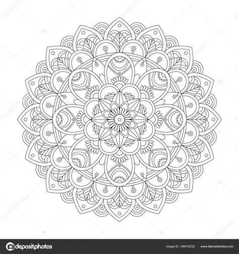 Cirkel Kleurplaten Volwassenen by Mandala Kleurplaat Voor Volwassenen Stockvector