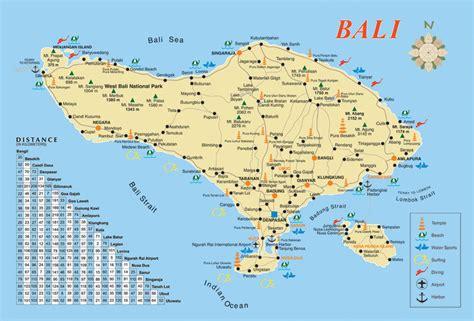 carte touristique de bali votre voyage  bali en