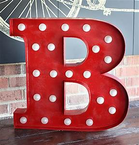 Semi diy marquee letter 7th house on the left for B marquee letter