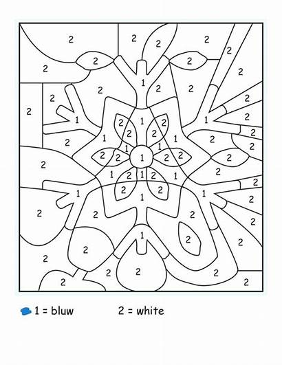 Coloring Math Grade Winter Number Worksheets Pages