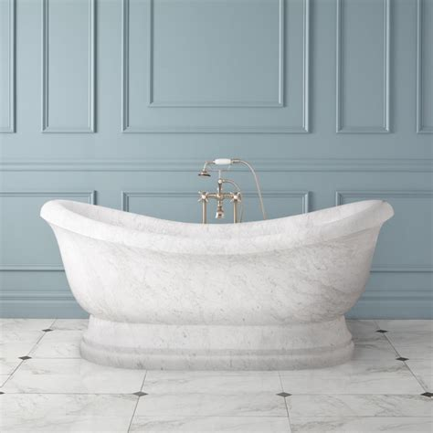 marble tubs 72 quot hadrian slipper tub polished carrara