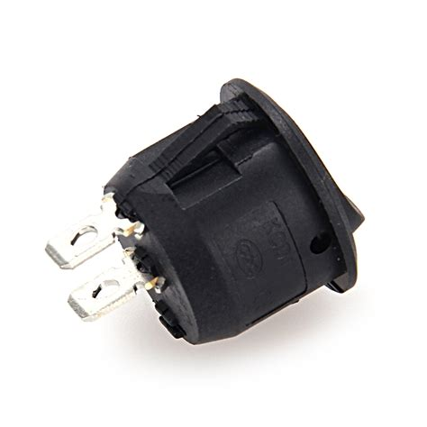 l on off switch 10x black round rocker on off switch i o 12v dc spst