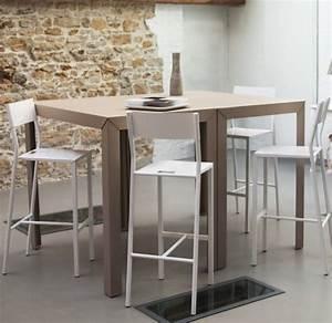 Table Haute En Verre : table a manger haute table salle a manger verre et bois maisonjoffrois ~ Teatrodelosmanantiales.com Idées de Décoration