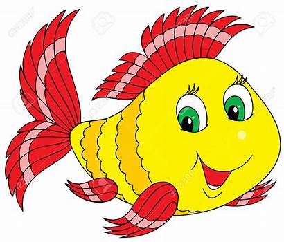 Goldfish Cartoon Clipart Fish Illustration Royalty Coral