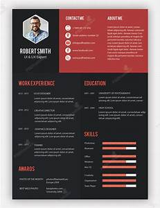 Creative professional resume template free psd for Creative resume templates