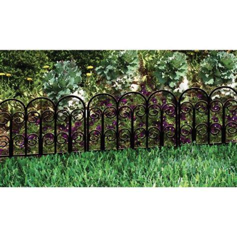 Decorative Garden Fence Border by Origin Point 060018 Classic Decorative Steel
