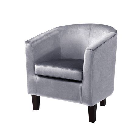 corliving antonio silver grey velvet tub chair walmart ca