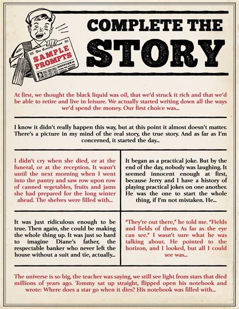 journal  aspiring writers complete  story