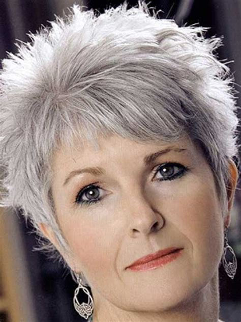 Hair Cuts For Thinner Grey Hair   Short Hairstyle 2013