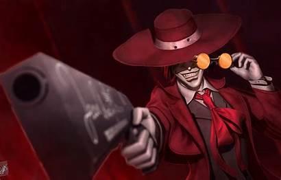 Hellsing Alucard Anime Vampire Gun Hat Wallpapers